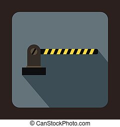 Parking barrier icon in flat style - icon in flat style on a...