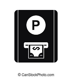Parking fee icon, simple style