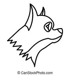 Pinscher dog icon, outline style - Pinscher dog icon in...