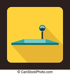 Parking scales icon, flat style