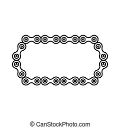 Bicycle chain icon, outline style - Bicycle chain icon in...