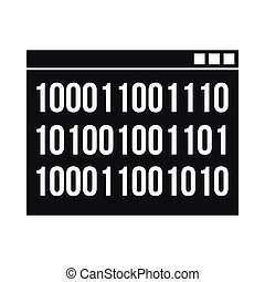 Binary code icon, simple style - Binary code icon in simple...