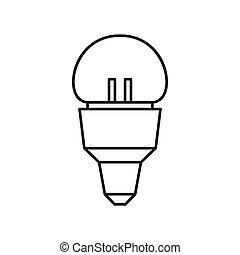 Reflector bulb icon, outline style - Reflector bulb icon in...