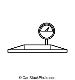 Parking scales icon, outline style