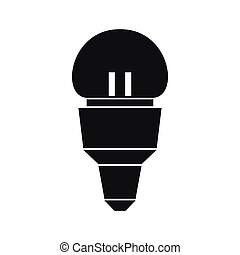 Reflector bulb icon, simple style - Reflector bulb icon in...