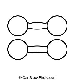 Pair of dumbbells icon, outline style