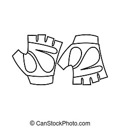 Cycling gloves icon, outline style - Cycling gloves icon in...