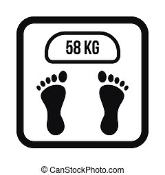 Weight scale icon, simple style - Weight scale icon in...