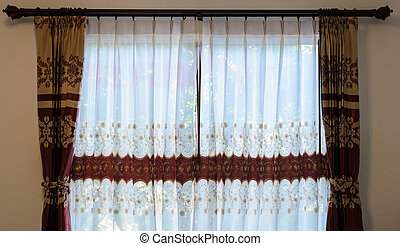 Translucent curtain window - Glass window with translucent...
