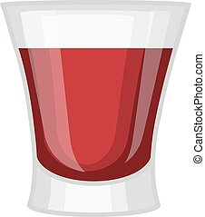 Whisky shot cup vector illustration Refreshment rum beverage...