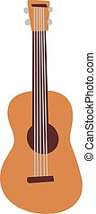 guitar isolated vector illustration. - Classical acoustic...