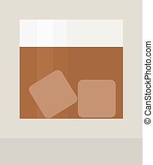 Whisky shot cup vector illustration. Refreshment rum...