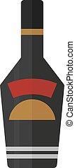rum bottle vector illustration - Whisky bottle on white...