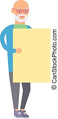 Old man banner vector illustration.