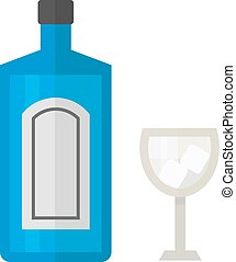 Tequila bottle vector illustration - Alcohol tequila bottle...