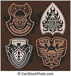 Set Of Military - Army Patches and Badges