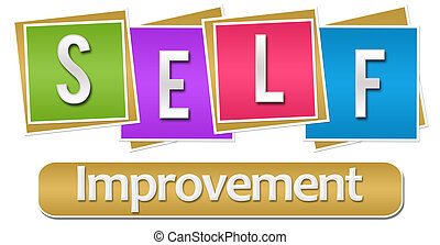 Self Improvement Colorful Blocks - Self Improvement text...