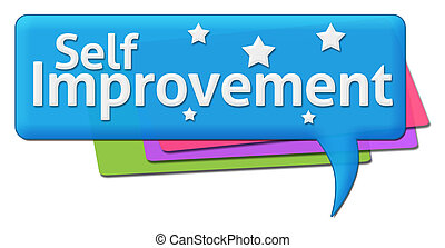 Self Improvement Colorful Comment - Self Improvement text...