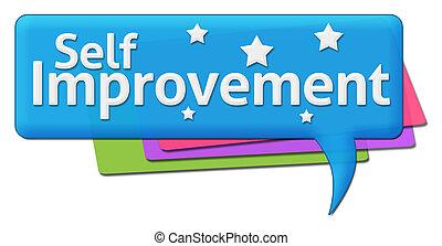 Self Improvement Colorful Comment - Self Improvement text...