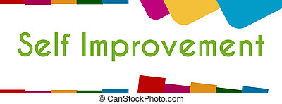 Self Improvement Colorful Abstract - Self Improvement text...