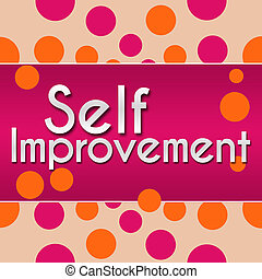 Self Improvement Pink With Orange - Self Improvement text...