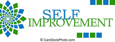 Self Improvement Green Blue Element - Self Improvement text...
