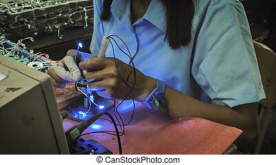 Electrical test of the PCB of computer fans. - Electrical...