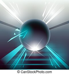 sci-fi laser sphere blue