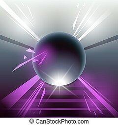 sci-fi laser sphere violet