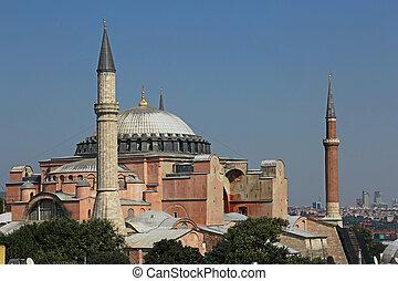 Haghia Sofia Close-Up - The exterior of Hagia Sophia shot...