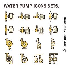 Water pump icon - Water pump vector icon sets.