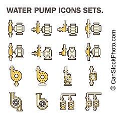 Water pump icon - Water pump vector icon sets.