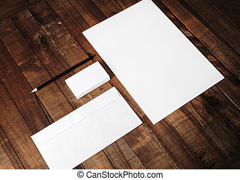 Blank corporate identity set - Photo of blank stationery and...