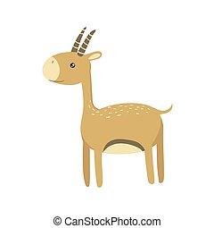 Gazelle Realistic Childish Illustration