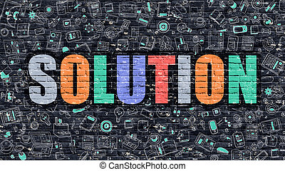 Solution in Multicolor Doodle Design - Solution Concept...