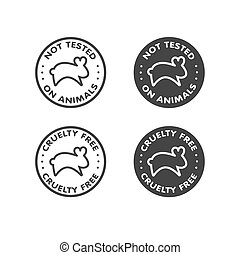 Cruelty free - not tested on animals sign icon symbol