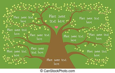 tree with place for infographics