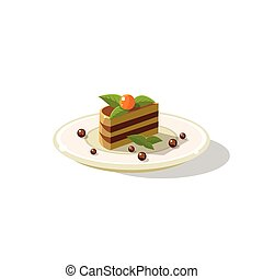 Traditional Italian Layered Cake Dessert