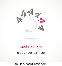 Mail Delivery Icon - Vector illustration of a Mail Delivery...