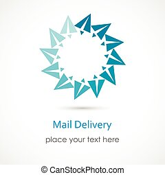 Mail Delivery - Vector illustration of a Mail Delivery