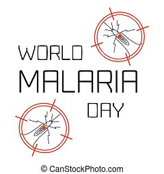 Malaria Day poster - World Malaria Day concept with...