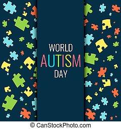 World autism pattern poster