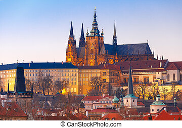 Prague Castle and Mala Strana, Czech Republic - Prague...