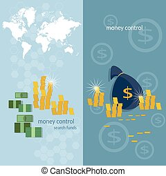 World banking system money transfer world map transactions online payments banking business finance vector banners