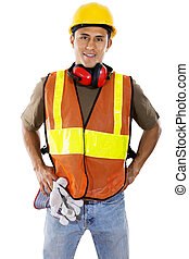 Construction Worker - Stock image of hispanic construction...
