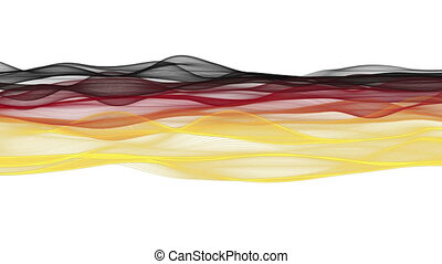 Wonderful german color wave video animation for sport...