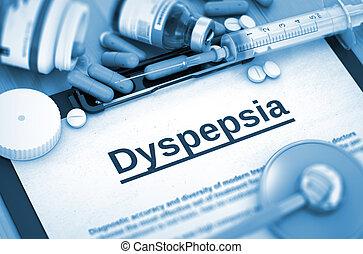 Dyspepsia. Medical Concept.