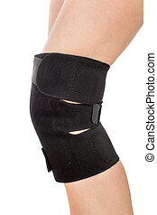Leg with tourmaline knee pad