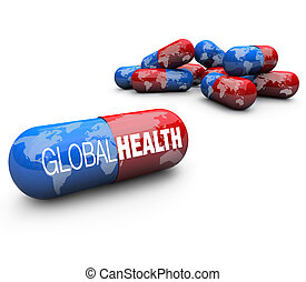 Global Health Care - Capsule Pills - Close-up of some pills,...