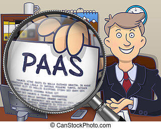 PAAS through Magnifying Glass. Doodle Design.